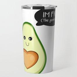 Avocado is Fat ! Travel Mug