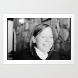 Verstecktes Lächeln Art Print