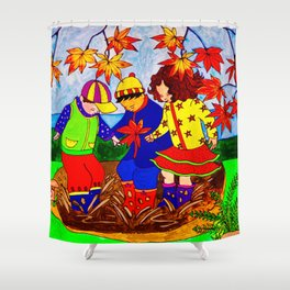Splashy Puddle Jumpers Shower Curtain