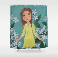jasmine Shower Curtains featuring Jasmine by Jarillo ArtCraft