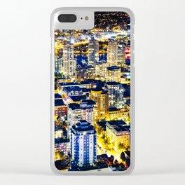 Voyeuristic 1560 Vancouver Cityscape Golden Luminous Yaletown Vancouver Clear iPhone Case