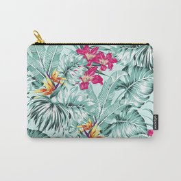 Bird of Paradise Greenery Aloha Hawaiian Prints Tropical Leaves Floral Pattern Carry-All Pouch