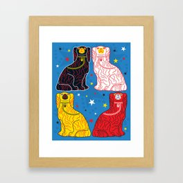 staffordshire dogs Framed Art Print