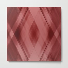 Wicker triangular strokes of intersecting sharp lines with purple triangles and stripes Metal Print