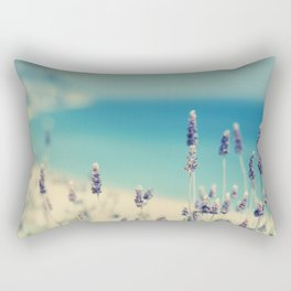beach - lavender blues Rectangular Pillow