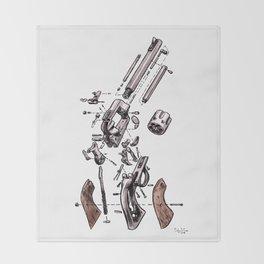 Exploded Gun Throw Blanket