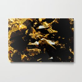 Black and Gold Tourmaline Metal Print