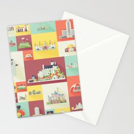 Los Angeles Landmarks Stationery Cards