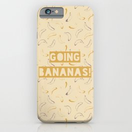 Going bananas! Bananas seamless pattern design with vintage colors style iPhone Case