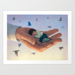 Softly in your hands Art Print