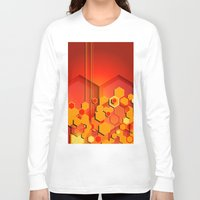 hexagon Long Sleeve T-shirts featuring Hexagon Layers by Robin Curtiss