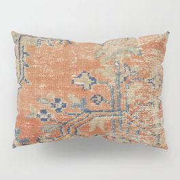 Vintage Woven Navy and Orange Pillow Sham