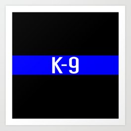 Police K-9 (Thin Blue Line) Art Print