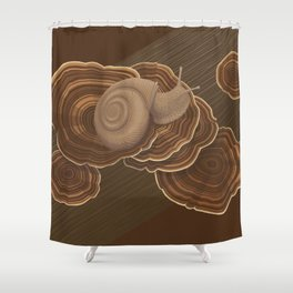 Forestsnail on Fungus Shower Curtain
