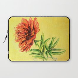 flower in a glass . illustration Laptop Sleeve