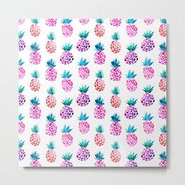 Pineapples || watercolor Metal Print