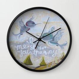 heavenly hummingbirds Wall Clock