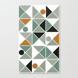 A Mishap of Some Trangles with a Few Dots Thrown In Canvas Print