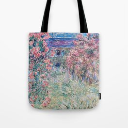 The House among the Roses by Claude Monet Tote Bag