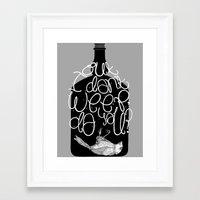 bukowski Framed Art Prints featuring Bluebird - Bukowski by miles to go