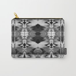 B&W Watercolor Ikat Carry-All Pouch