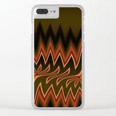 Fractal Tribal Art in Autumn Clear iPhone Case