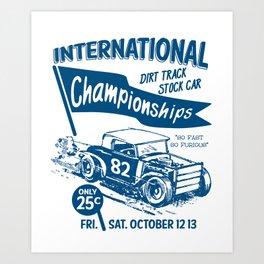 Internationa race Art Print