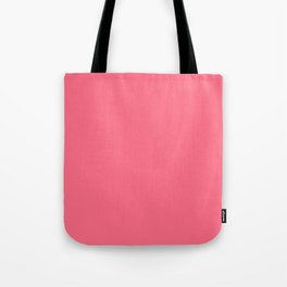 Watermelon Pink Simple Solid Color All Over Print Tote Bag