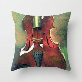 Violin Art Throw Pillow