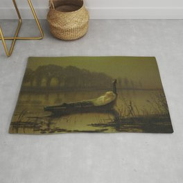 The Lady of Shalott by John Atkinson Grimshaw Rug