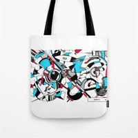 kandinsky Tote Bags featuring KANDINSKY TRIBUTE by DavidePerroneDAHM