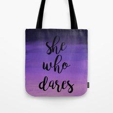 She Who Dares - Indigo Ombre Tote Bag