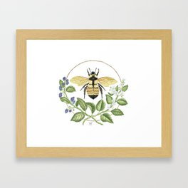 Bombus & Blackberries Framed Art Print