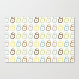 clocks pattern Canvas Print
