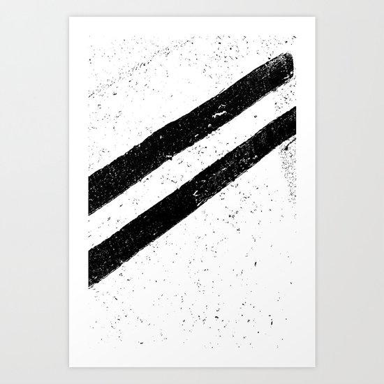 STREET SLANG / Stripes 1 Art Print