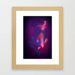 Passionate hug Framed Art Print