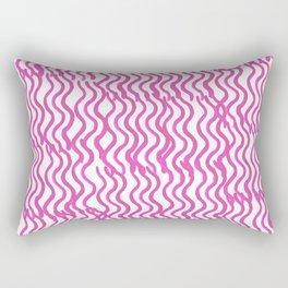 Pink Wavey Rectangular Pillow