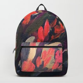 Vibrant Flower Abstract Backpack