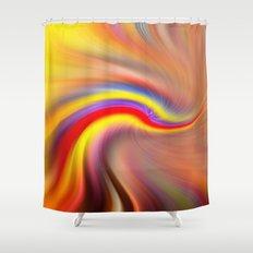 Cupcake Twirl Shower Curtain