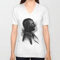 bdsm V-neck T-shirts featuring BDSM XXXVI by DIVIDUS