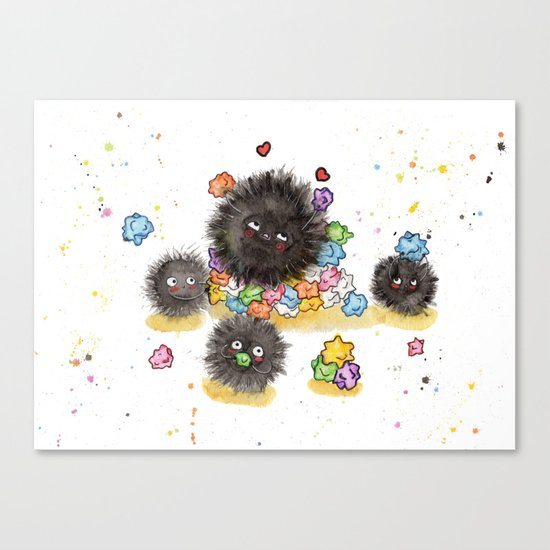 Hungry Soot Sprites  Canvas Print