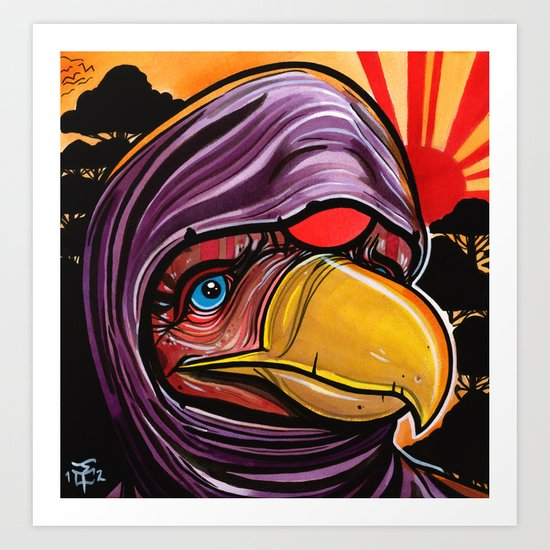 Bird Rising  Art Print