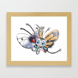 Butterfree and Beautifly Framed Art Print
