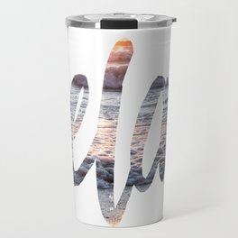 Time to Relax at Sunset on the Beach Travel Mug