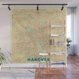 Hanover Map Retro Wall Mural