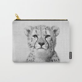 Cheetah - Black & White Carry-All Pouch