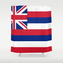 flag of hawai,america,usa,Aloha State, Paradise of the Pacific, Hawaiian,oceania,Honolulu,Maui,Oahu, Shower Curtain