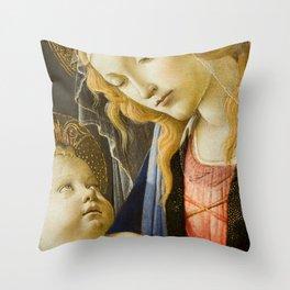 Madonna and Child Renaissance Religious art Throw Pillow