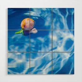 Mermaid in the pool Wood Wall Art