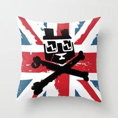 Bear Picnic Union Jack Throw Pillow